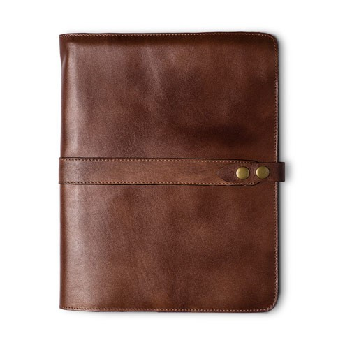 Natural Cowhide Flex Spiral Bound Cover - Executive Size