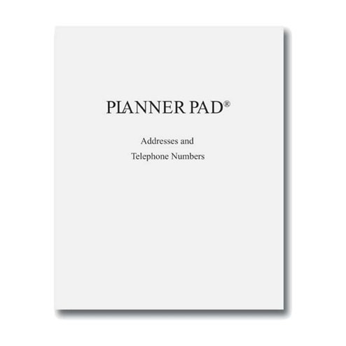 planner pads portable telephone and address book personal size