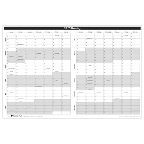 2017/2018 Wall Calendar 24X36