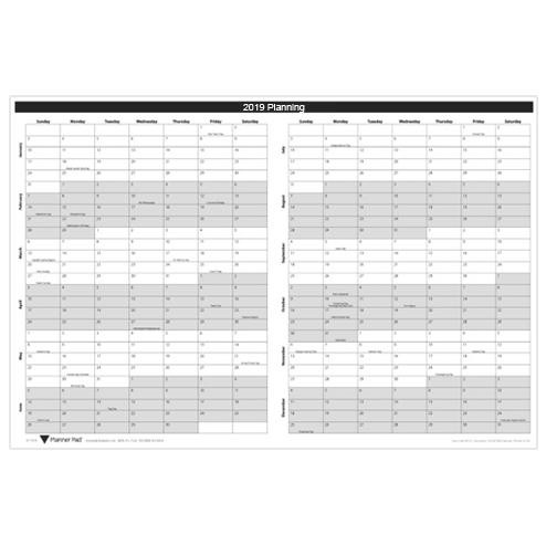 Wall Calendar 2020 2019 2019 Wall Calendar | 24x36   Planner Pads