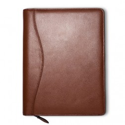 """Lifestyle"" Leather Spiral Bound Cover - Executive Size"