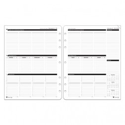Loose Leaf Organizer - Black Ink Style - Executive Size
