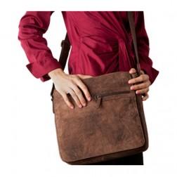 Mid Size Distressed Messenger Bag