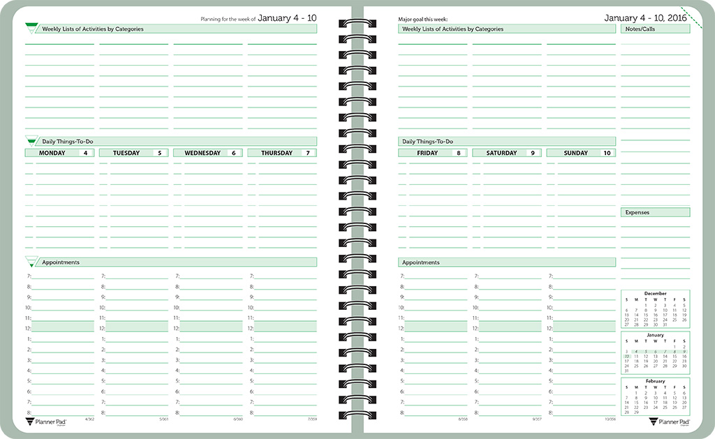 planner pads spiral bound planners dated